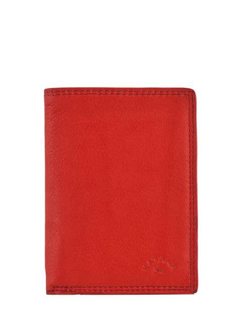 portefeuille homme katana  rouge en vente au