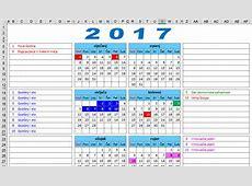 KALENDAR 2017 s državnim praznicima blagdanima i neradnim