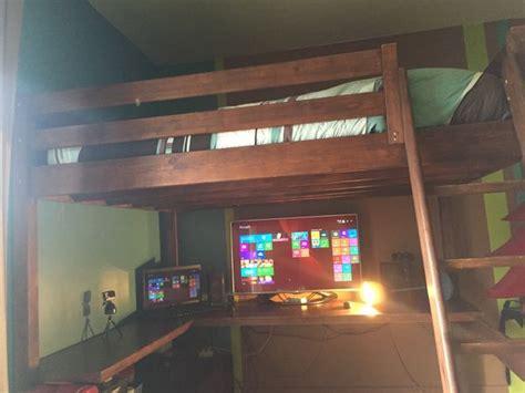 bureau sous lit mezzanine les concepteurs artistiques mezzanine 2 places escalier