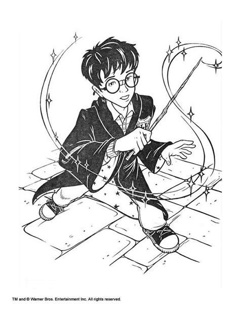harry potter  magic stick coloring pages hellokidscom