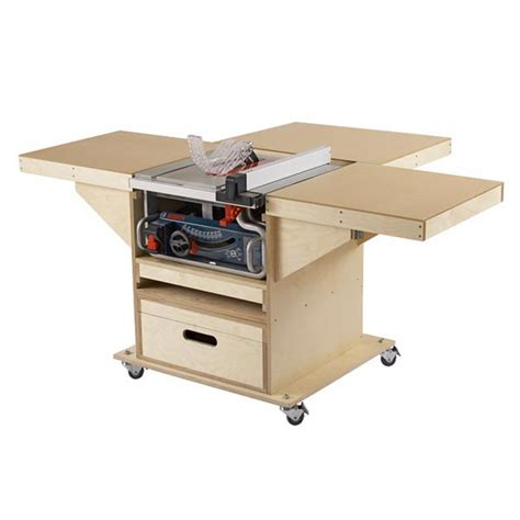 table saw workbench woodworking plans quick convert tablesaw router station woodworking plan