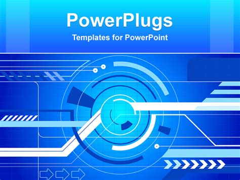 powerpoint template animated abstract graphical depiction