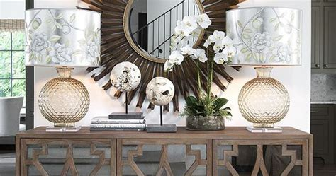Decorative Orbs Wood Metal Ball Rustic Home Decor Spheres: A Mirrored Buffet With Decorative Curved Wood Trim Is