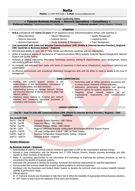 Telecom Project Manager Resume Sle by Telecom Manager Sle Resumes Resume Format
