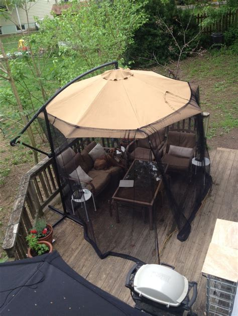 Mosquito Netting For 11 Patio Umbrella by 1000 Ideas About Screened Gazebo On Gazebo