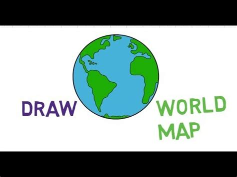 draw world map step  step easy  tutorial