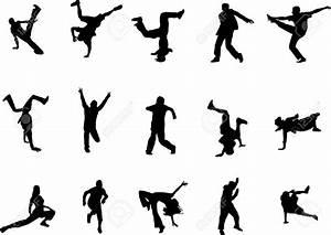 Hip Hop Dance Silhouettes Royalty Free Cliparts, Vectors ...