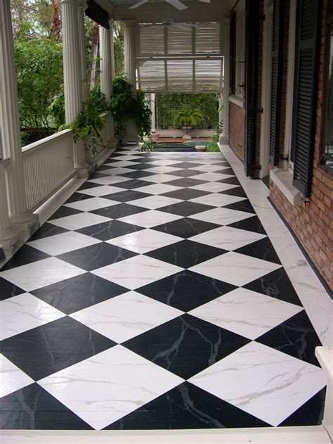 Porch Flooring by Painted Floors Zeller Interiors