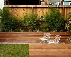 houten plantenbakken voor de tuininterieur inrichting With beautiful deco entree de maison 2 murs deau creation espace deau