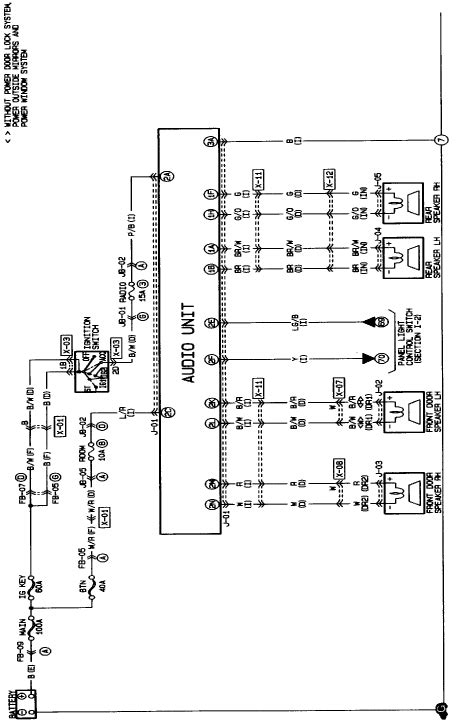 Need The Wiring Diagram For Mazda Protege Car