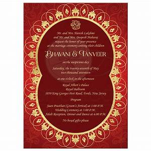 exotic far east wedding invitation rich red ornate faux With circle box wedding invitations
