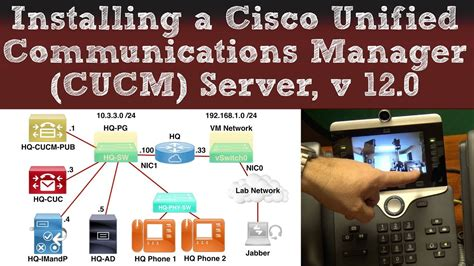 installing  cisco unified communications manager cucm