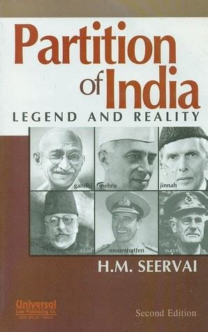 lumio book l india partition of india legend and reality by h m seervai