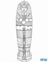 Sarcophagus Egyptian Coloring Egypt Ancient Crafts Mummy Mummies Colors Hellokids Kid sketch template