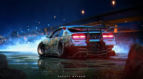 300zx Wallpaper 4k by Car Stance Khyzylsaleem Nissan 300zx Futuristic Angry