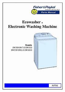 Fisher  U0026 Paykel Iw810 Parts Manual Regarding Fisher Paykel Washing Machine Parts Diagram