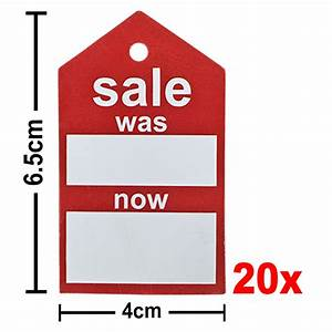 200gsm Premium SALE Swingtag - Was/Now Point of Sale Signs ...