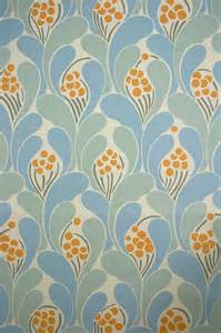 vintage funky wallpaper with blue geometric pattern 1970s