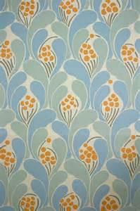 Papier Peint Vintage Geometrique vintage funky wallpaper with blue geometric pattern 1970s
