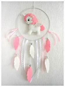 Attrape Reve Bebe : attrape r ves licorne blanche et rose feutrine cadeau anniversaire cadeau no l b b no l ~ Teatrodelosmanantiales.com Idées de Décoration