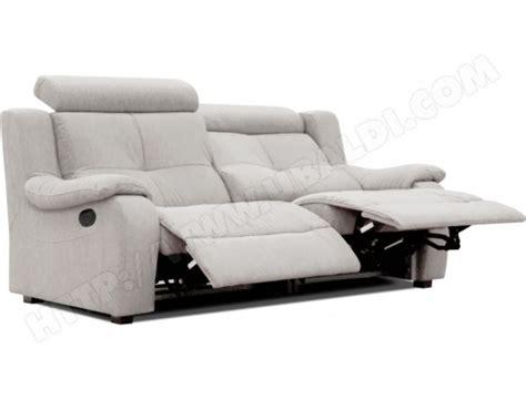 ubaldi canape canapé microfibre poldem lola 3 places relaxation gris pas