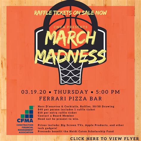 At our family restaurant, we strive in putting together a delicious dishes that. CFMA Presents: March Madness