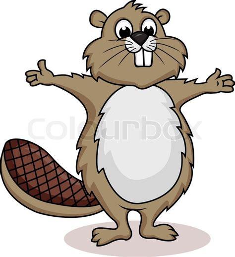 beaver cartoon stock vector colourbox