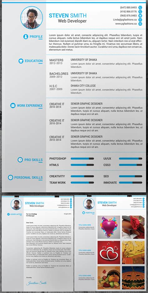free synopsis resume cv and portfolio template 15 free modern cv resume templates psd freebies graphic design junction