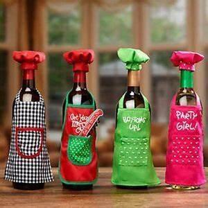 Wine Bottle Apron Chef Set Christmas Party Wine Decor