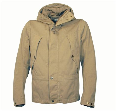 cp company beige hooded winter jacket jackets