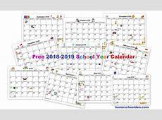 Free 20182019 Calendar Printable Homeschool Den