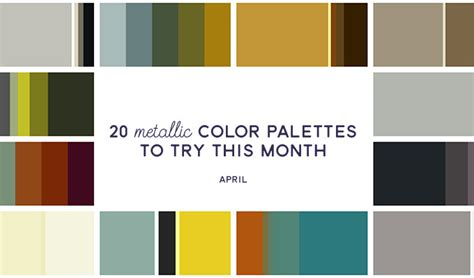 20 metallic color palettes to try this month april 2016 creative market