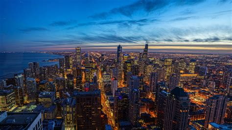Wallpaper For by Chicago City In Illinois United States 4k Ultra Hd