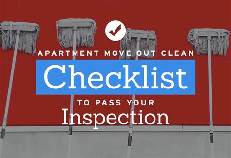 Apartment Move In Inspection Checklist by Apartment Move Out Cleaning Checklist To Pass Your Inspection