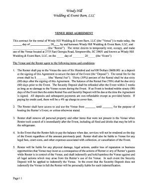 wedding band contract template fillable printable