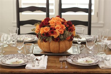 thanksgiving table setting jenny steffens hobick thanksgiving table setting diy flower pumpkin centerpiece woodland