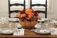 thanksgiving table centerpieces Jenny Steffens Hobick: Thanksgiving Table Setting | DIY Flower Pumpkin Centerpiece, Woodland ...