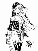 Nun Warrior Areala Deviantart Anime Drawing Dogsupreme Coloring Nuns Battle Commission Dark Tail Fairy Circle sketch template