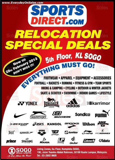 sportsdirectcom relocation special sale everydayonsalescom