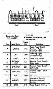 98 Chevy Blazer Radio Wiring Diagram