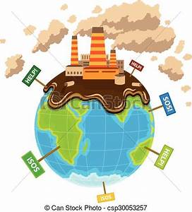 Clipart Vector of World planet pollution ecocatastrophe Eps10 vector csp30053257 Search