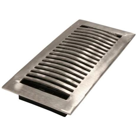 4 in x 10 in brushed aluminum floor register la410 nkl