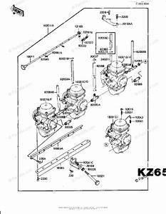 Kawasaki Motorcycle 1981 Oem Parts Diagram For Carburetor Assy  Kz650