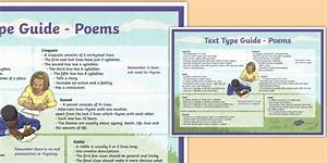 Text Type Guide Poems A4 Display Poster  Teacher Made