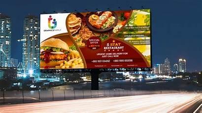 Billboard Advertising Template Restaurant Poster Editable