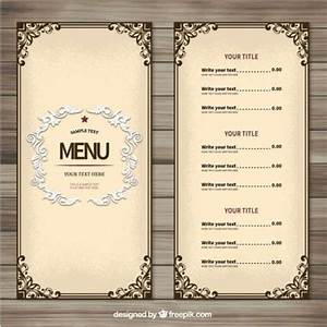 25 best ideas about menu templates on pinterest With create a menu template free