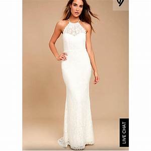 Lulus white lace destination wedding dress size 0 xs for Size 0 wedding dresses
