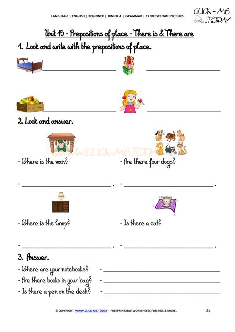 Exercises Prepositions Of Place Beginners  English Teaching Worksheets Prepositions Of