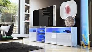 Tv Sideboard Weiß Hochglanz : lowboard sideboard tv board tisch rack granada v2 wei hochglanz naturt ne ebay ~ Whattoseeinmadrid.com Haus und Dekorationen