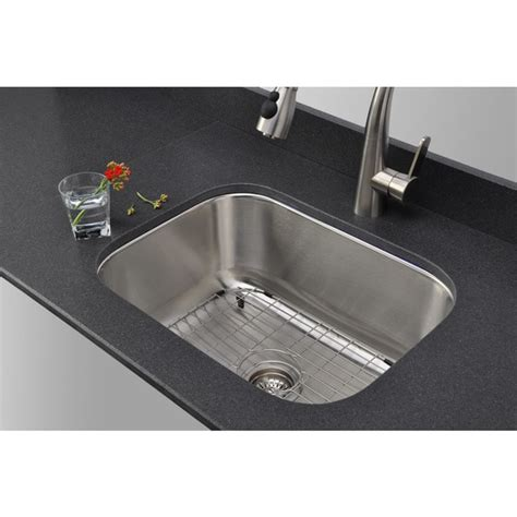 23 inch undermount stainless steel sink wells sinkware 23 inch undermount single bowl 18 gauge